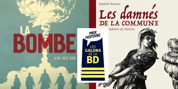 Communique : La bombe Grand prix des Galons de la BD - Les damnés de la commune, prix histoire